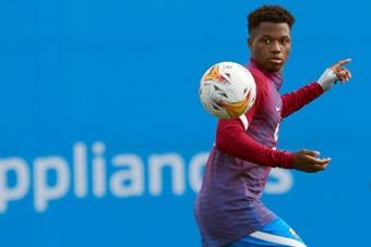 Ansu Fati esteve prestes a assinar pelo Nice. AFP