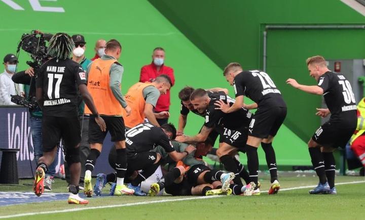 El 'Gladbach derrotó al Wolfsburgo. EFE