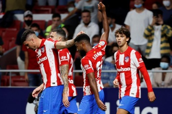 O Atlético define as suas próximas renovações. AFP