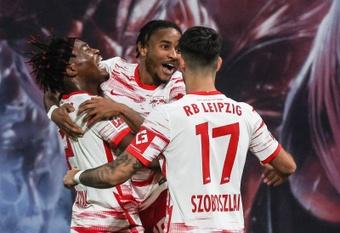 El RB Leipzig vuela hacia Europa. EFE/Filip Singer