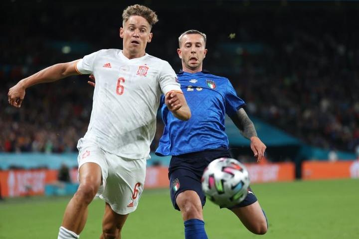 L'Italie retrouvera l'Espagne en demi-finale de la Ligue des Nations, ce mercredi 6 octobre. EFE