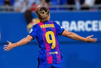 Mariona explicó el por qué de las goleadas por ocho o nueve goles. EFE