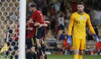 España Sub 21 se impuso por 3-2. EFE
