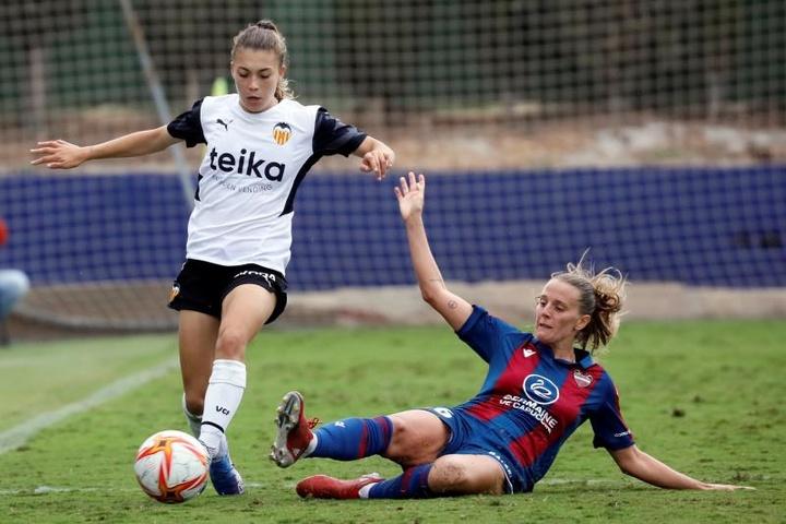 Alba Redondo anotó el único tanto del partido. EFE