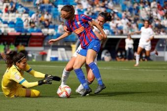 Rocío Gálvez anotó el tanto de la victoria del Real Madrid. EFE