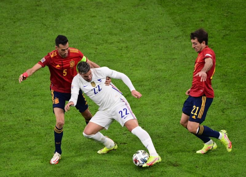 Sergio Busquets said France's second goal was offside. EFE