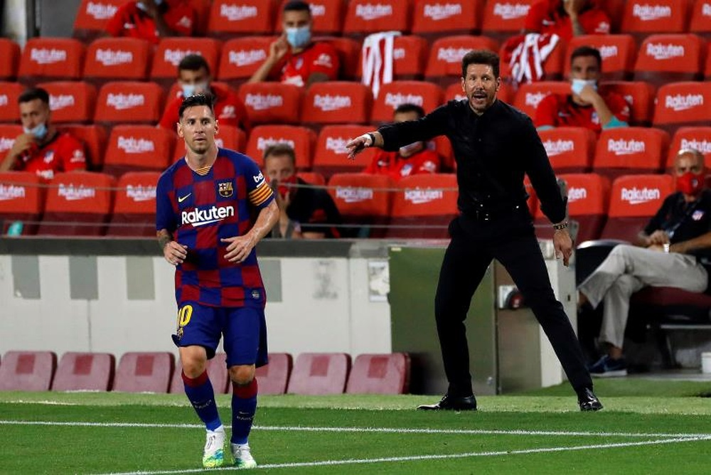 Romeu explicó la salida de Messi. EFE/Alberto Estévez