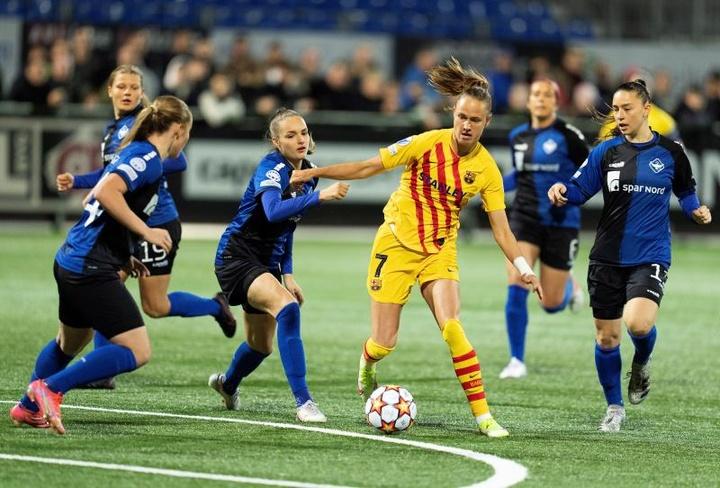 El Barcelona Femenino derrotó 0-2 al HB Koge en la Champions League. EFE