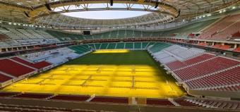Así lucirá el estadio de Al Thumana el próximo Mundial. EFE