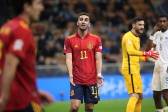Guardiola confirmou a lesão de Ferran.EFE