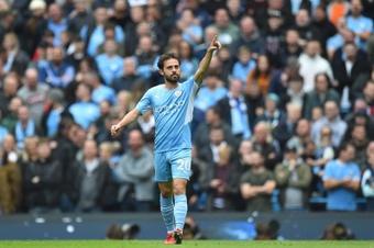 Manchester City venceu por 2 a 0, mas poderia ter sido por muito mais. EFE/EPA/PETER POWELL