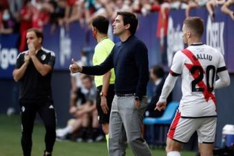 Iraola analizó la derrota de su equipo. EFE