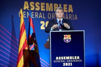 Este sábado seguirá la Asamblea del Barcelona. EFE