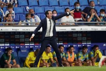 Emery no se mostró de acuerdo sobre la concesión del penalti. EFE