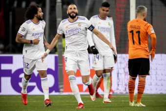 Real Madrid had to win against Shakhtar Donest in the CL. EFE