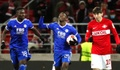 Daka scores four as Leicester grabs the win at Moscow. EFE