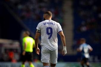 Benzema es duda para el 'Clásico'. EFE