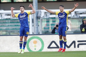 Il  Verona batte la Lazio. EFE