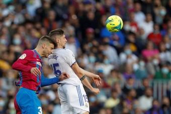 Fede Valverde se lesionó frente al Barcelona. EFE