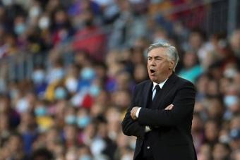 Ancelotti se quejó del penalti no pitado a Vinicius y del tiempo de añadido. EFE