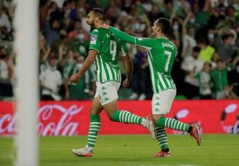 Borja Iglesias marcó un doblete. EFE