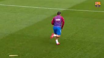 Agüero já sprinta.Captura/FCBarcelona_es