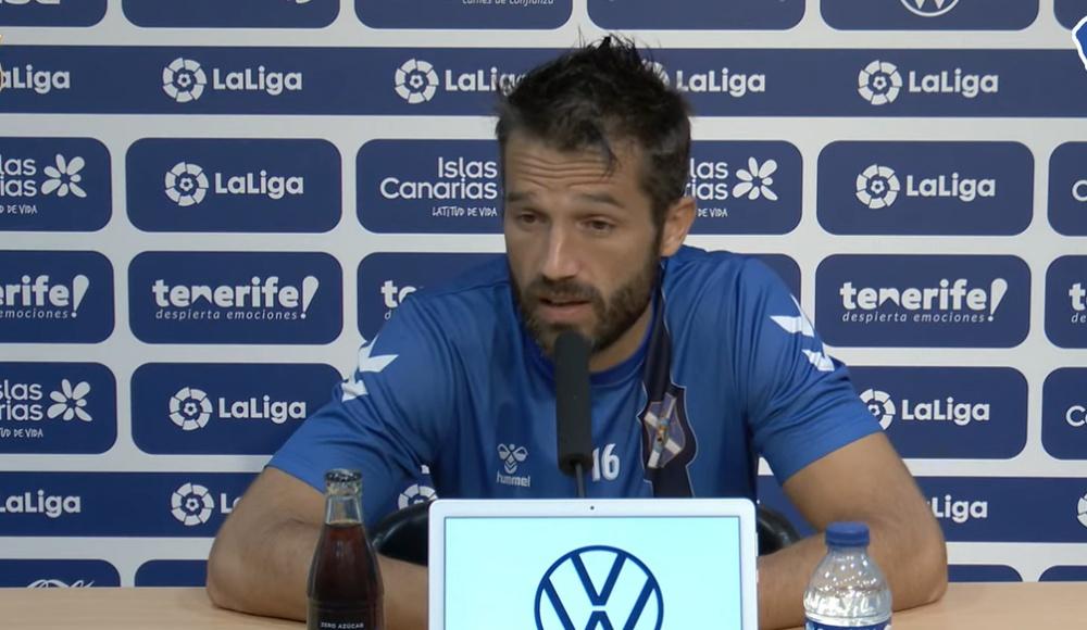 Aitor Sanz compareció en rueda de prensa para analizar el derbi ante Las Palmas. Twitter/CDTOficial