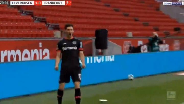El Bayer Leverkusen hace soñar a Haaland con la Champions. Captura/beINSports