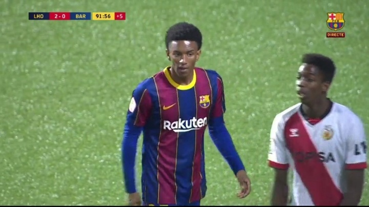 Balde podría salir del Barça B. Captura/BarçaTV