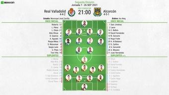 Sigue el Valladolid-Alcorcón en directo. BeSoccer