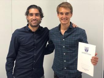 Álvaro Zazo, de Roalza Sports Management, y Sergio González. Cedida/IAMSport