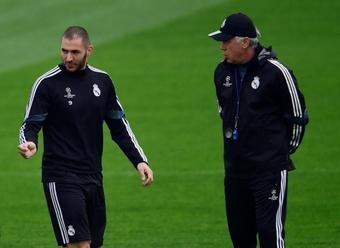 Benzema, o amuleto de Ancelotti nos começos de temporada. AFP
