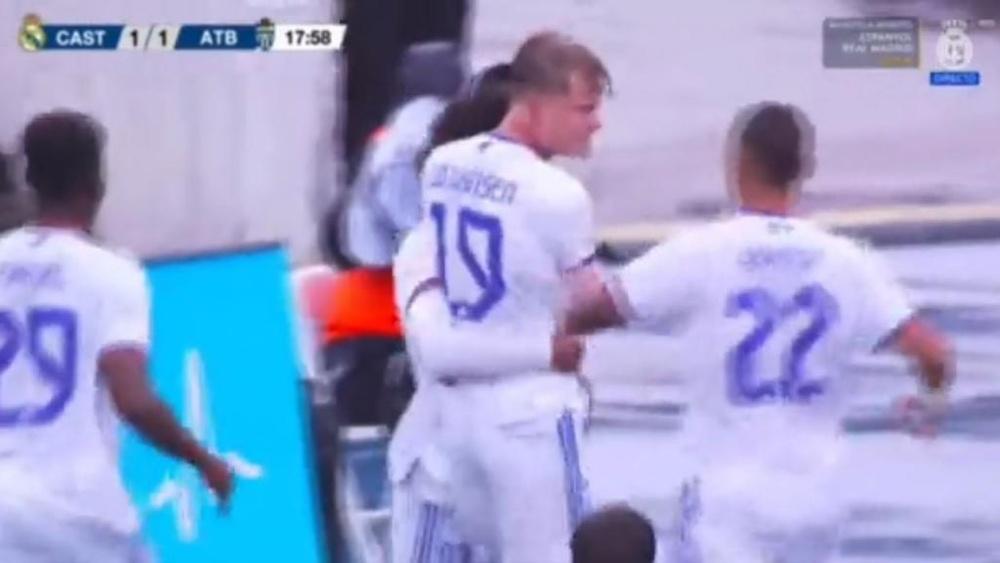 Gudjohnsen está destacando mucho. Captura/RealMadridTV