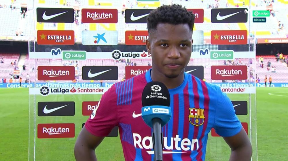 Ansu Fati è riapparso al Camp Nou. MovistarLaLiga