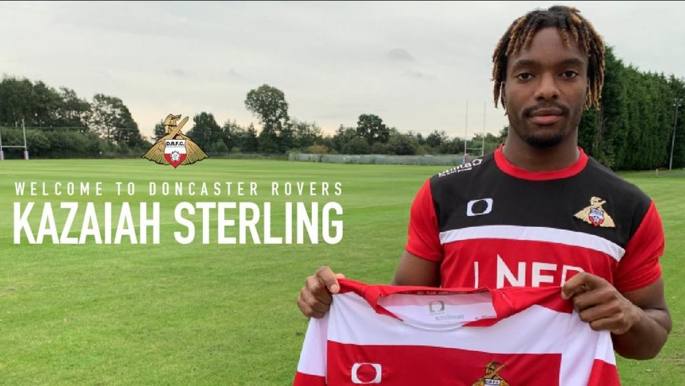 Kazaiah Sterling pone rumbo al Doncaster Rovers. DoncasterRovers