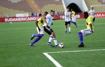 Argentina cosechó su primera victoria en el Sudamericano Sub 17. Twitter/sub17Peru2019