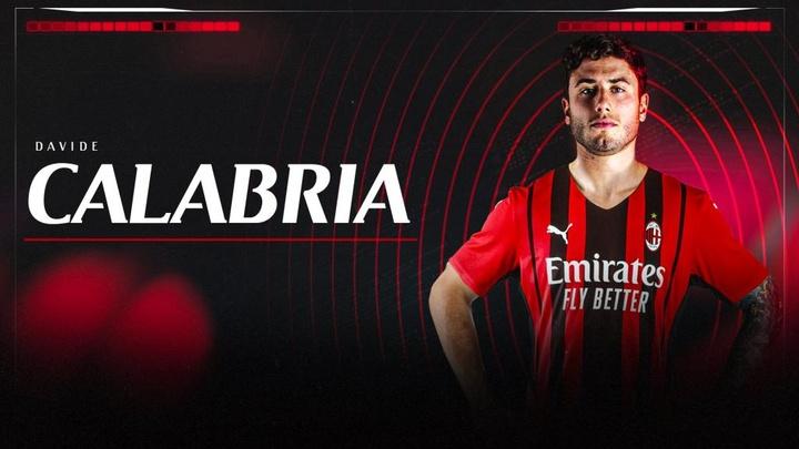Así anunció el AC Milan la renovación de Davide Calabria. Twitter/ACMilan