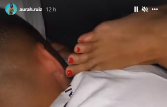 La novia de Jesé Rodríguez desmintió el supuesto atropello al jugador canario. Captura/Aurah.Ruiz