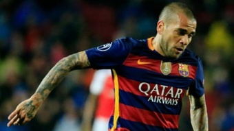 Alves is reportedly willing to put on the Barca shirt again. AFP