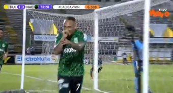 Atlético Nacional venció 1.4 ante Atlético Huila. Captura/WinSports