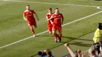 Billy Kee jugaba en la League Two. AccringtonStanleyFC