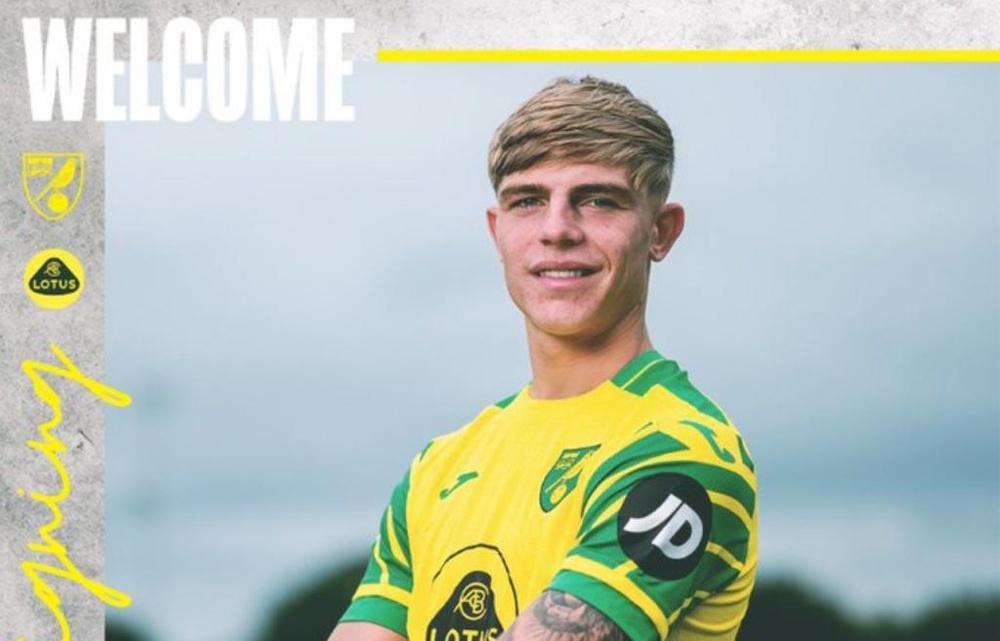 Brandon Williams, new Norwich City player. Twitter/NorwichCityFC