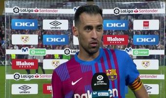 Busquets asumió las culpas en el primer gol del encuentro. Captura/MovistarLaLiga