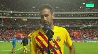 Busques spoke about the defeat to Benfica. Screenshot/MovistarLigadeCampeones