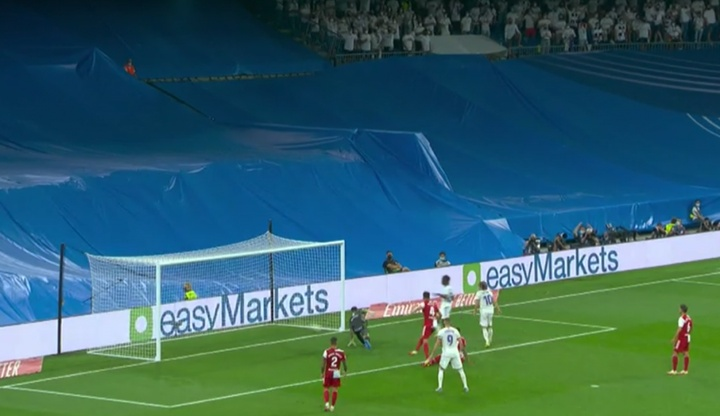 Camavinga scored on his Real Madrid debut. Screenshot/MovistarLaLiga