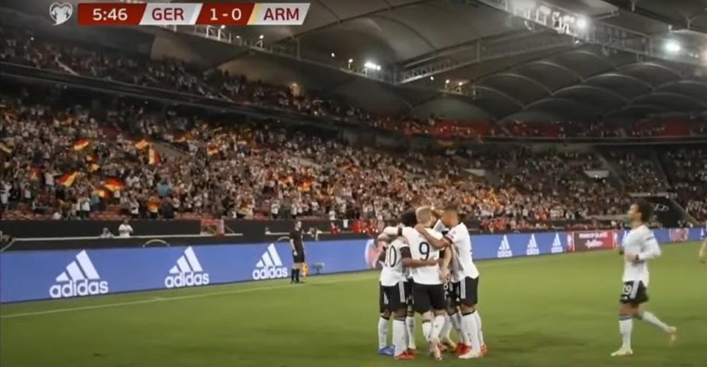 Alemania pasó por encima de Armenia. Captura/SkySports