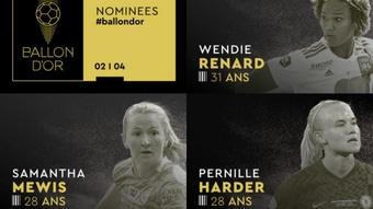 Cuatro españolas, nominadas al Balón de Oro 2021. FranceFootball