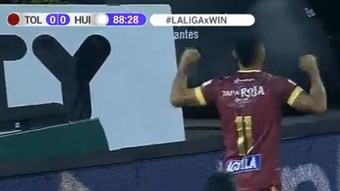 Deportes Tolima venció por la mínima a Atlético Huila. Captura/WinSports