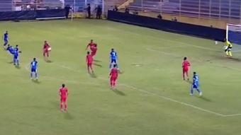 El Salvador ganó y avanzó al octogonal final. Captura/TigoSports