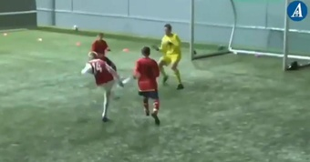 Haaland marcó un 'hat trick' en un torneo con 13 años. Captura/StavangerAftenblad